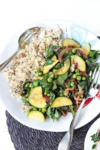 Spring Recipe: Quinoa with Garden Vegetables